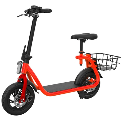 12 Inch Front Rear Full Suspension Mini Citycoco Electric Scooter With USB And Compass